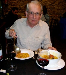 MFC tucking in to <i>fabada</i> in Ribadesella